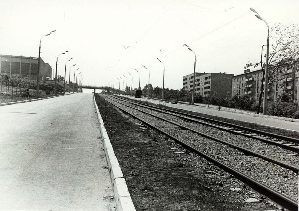 ДК Металлург, пешеходный переход, дом 263 и 271 на улице Карла Маркса в 80-ые годы. Ижевск.