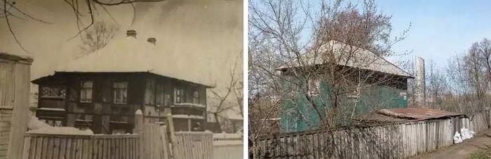 Дом на ул. Милиционная в котором жил Дважды Герой Советского Союза летчик  Кунгурцев Евгений Максимович.
