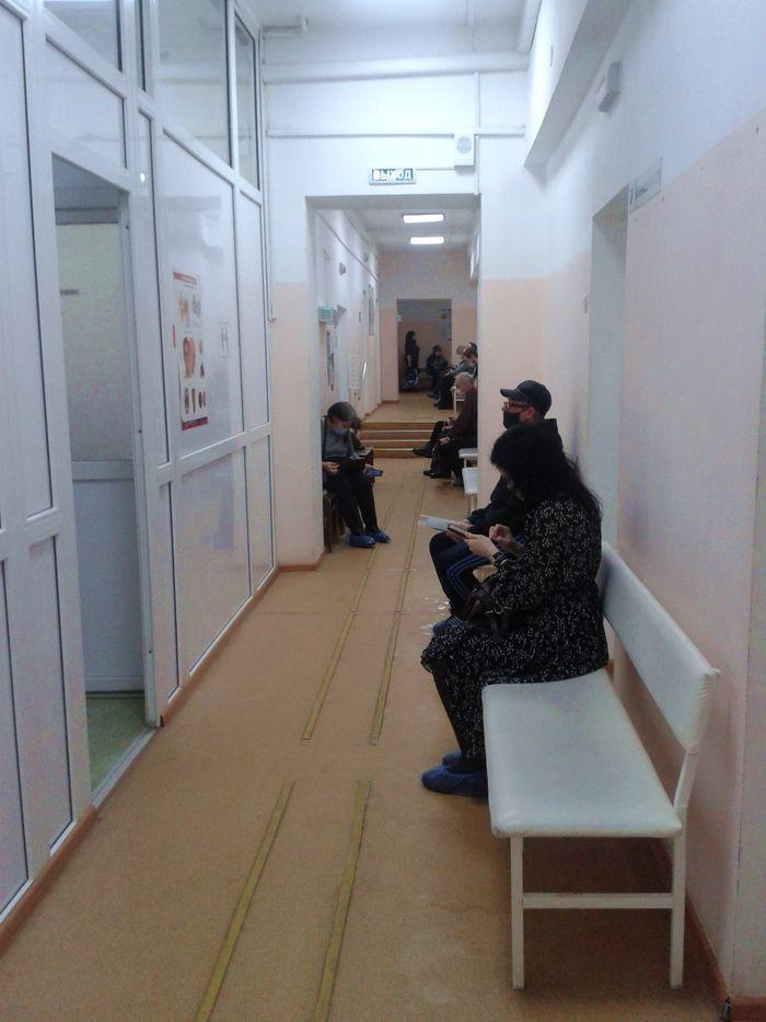 Городская клиническая больница №1 МЗ УР. Ижевск Пушкинская 162. ДВА. 10:05 12.03.2021 год.