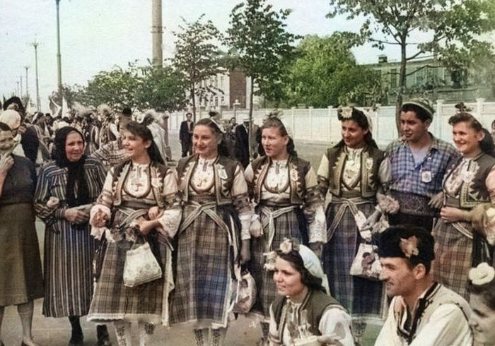 Делегация из Чехословакии - участники фестиваля молодежи и студентов, 14 июня 1957г.