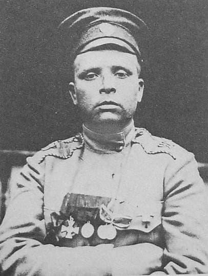 Командир женского батальона  Мария Бочкарева.