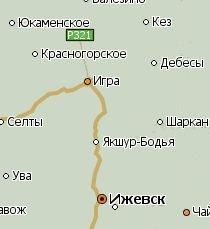 Игра Удмуртия. Карта.