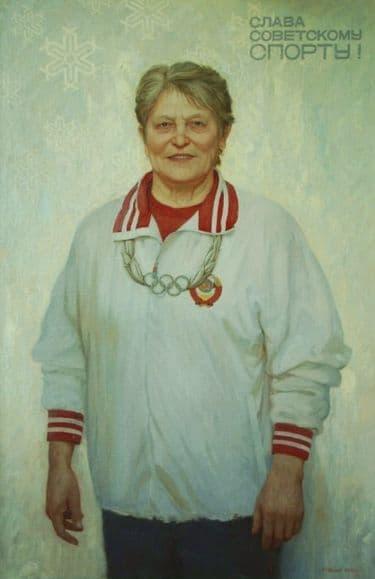Портрет Кулаковой Г.А. работы Рычкова А.Г.