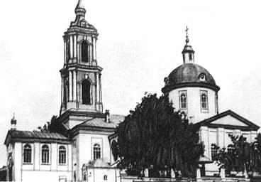 Сюмси. Храм в честь Сретение Господне. Приход основан в 1831 г. Классицизм.