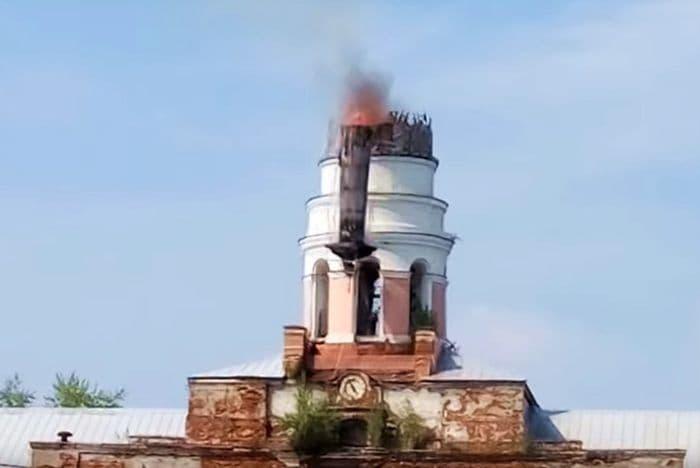 Пожар в башне Главного корпуса ИОЗ, 2018 год. Ижевск.