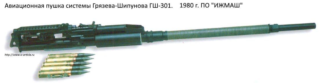 Авиационная пушка системы Грязева-Шипунова ГШ-301. 1980 г. ПО ИЖМАШ