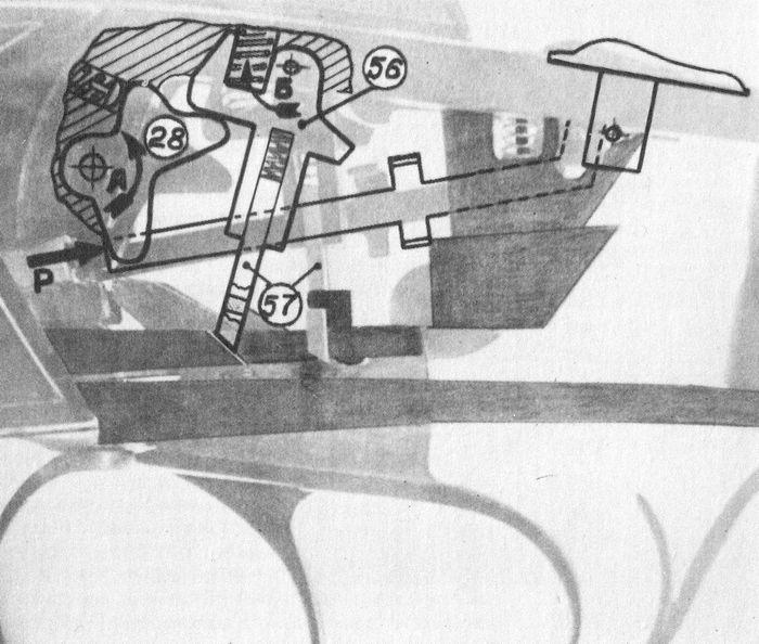 Положение деталей ударно-спускового механизма ружья Иж-43 перед и во время взведения курков.