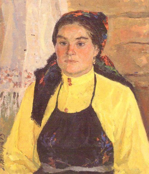 Портрет Дмитриевой Н. 1975. Холмогоров А.П.