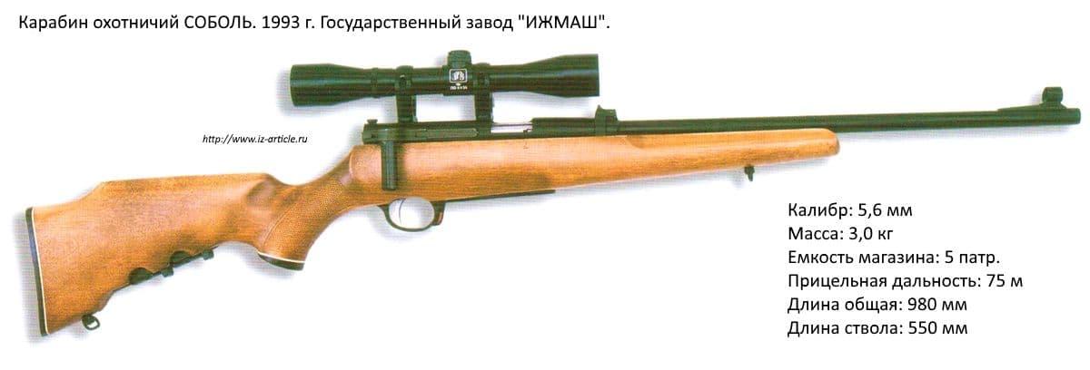Карабин охотничий СОБОЛЬ. 1993 г. Государственный завод ИЖМАШ