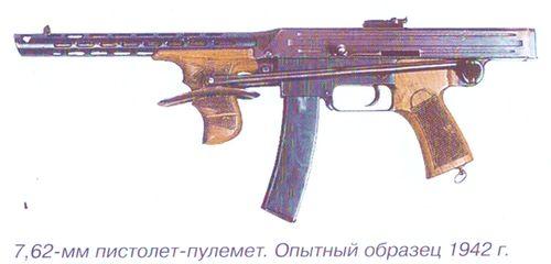 7,62 мм пистолет-пулемет Калашникова. Опытный образец 1942 г. Инв.№ 57\144.