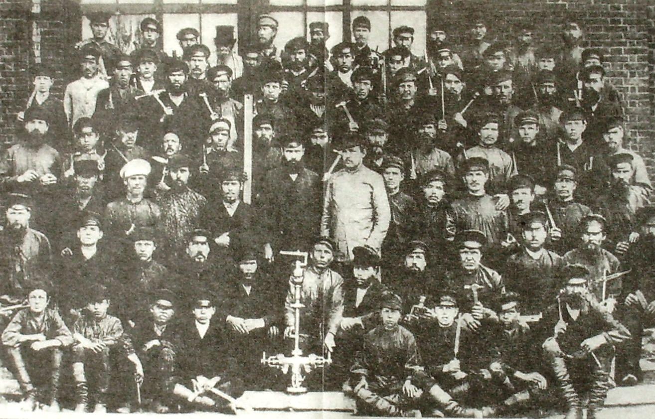 Группа рабочих Воткинского завода.