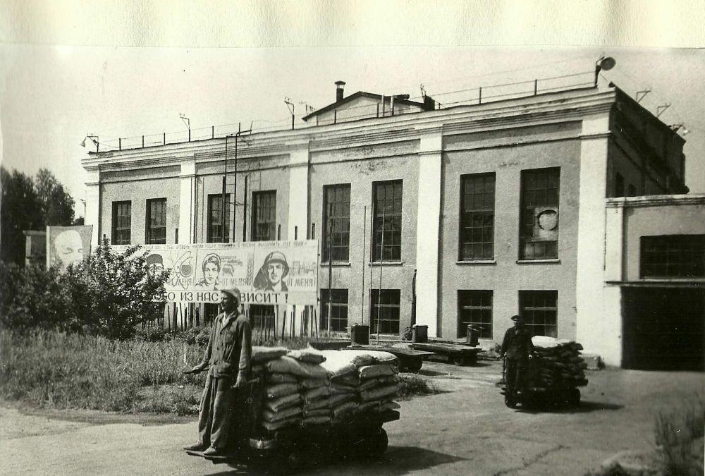 """На заводе """"Дубитель"""": внутризаводской транспорт. Фото: Краеведческий Музей, начало 1970-х годов. Можга г."""