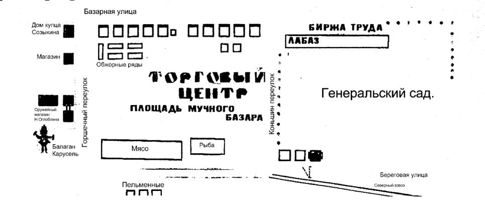 Мучной базар, хлебный базар Ижевск. План.