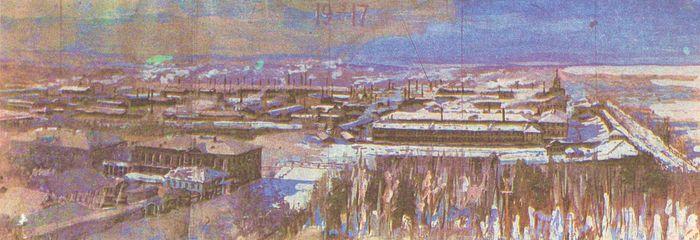 Быков А. Вид на Ижевский завод (1917).