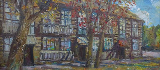 Улица Ленина Ижевск. Виктор Котляров. 1986 год.