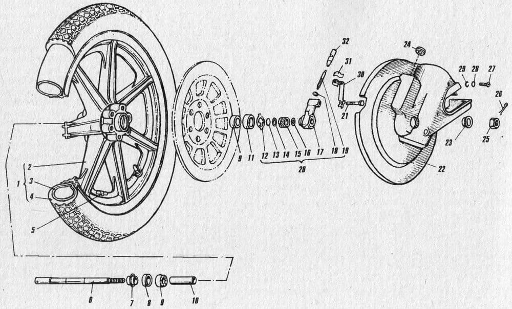 Колесо переднее литое мотоцикла ИЖ.