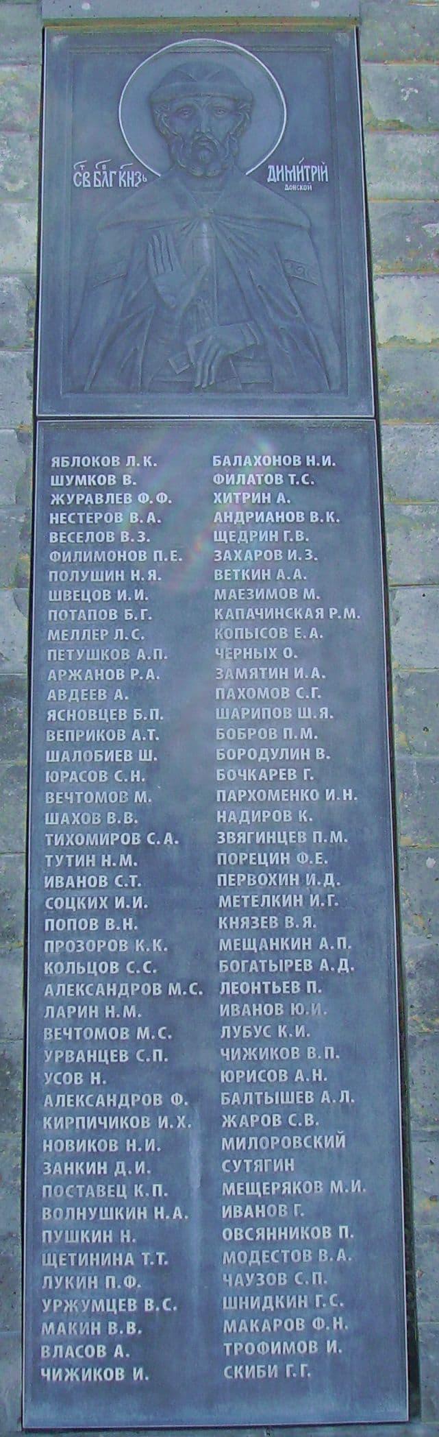 Воины, скончавшихся в госпиталях Ижевска во время Второй Мировой Войны.