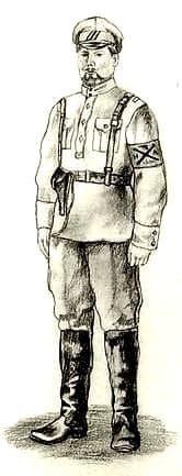 Офицер-воткинец. Ижевско-Воткинская дивизия. 1918 г.