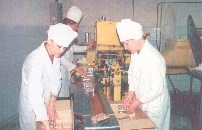 ОАО Можгасыр. Упаковка масла. 2001 г.
