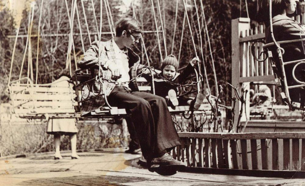 Карусель в парке Кирова, 1978 год Фото В.В.Ашпина. Ижевск.