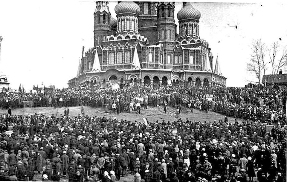 1 мая 1922 года. Михайловский собор. Ижевск