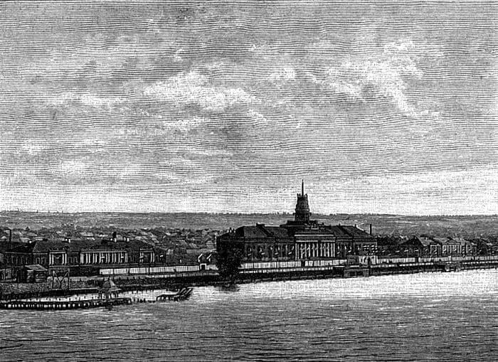 Ижевский Оружейный завод с обложки литературного журнала Нива за октябрь 1887 год.