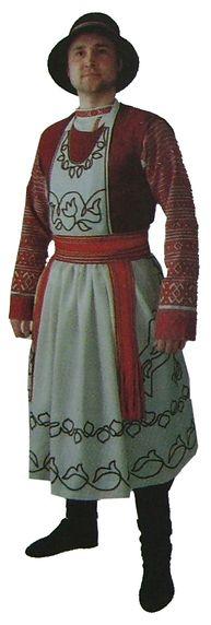 Праздничная мужская одежда. Карлыганские удмурты. Удмуртская народная одежда.