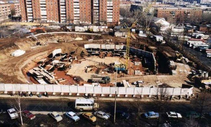 Стройка на месте старого цирка. Ижевск.