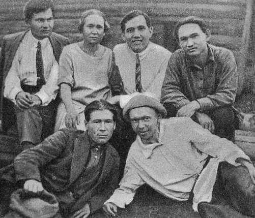 Кузебай Герд с товарищами. Научная экспедиция. 1928 г.