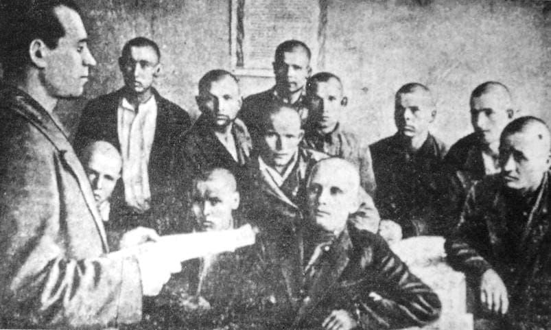 Бойцы эвакогоспиталя. 1940 гг