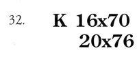 Клейма на оружии: клеймо на советском оружии. 32.    Обозначение калибра и длины картонной гильзы.