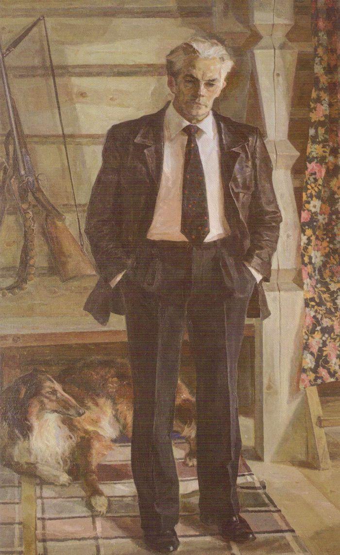 Портрет конструктора Калашникова М.Т. 1982. Холмогоров А.П.