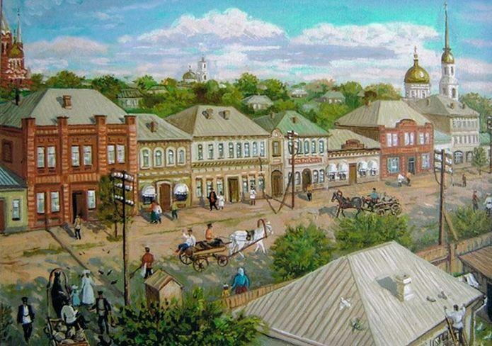Ижевск. Базарная улица. Дворник. Автор: Виктор Борисович Котляров.