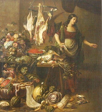Неизвестный художник Фламандия. Мясная лавка. XVIII век.
