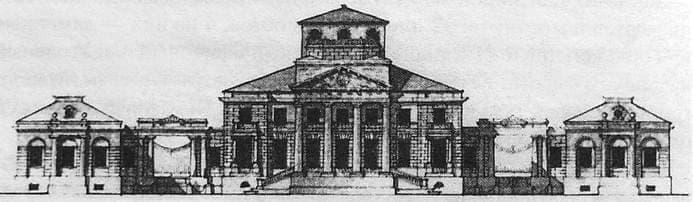 Фасад дома Дерябина А. Ф. в Ижевском заводе.