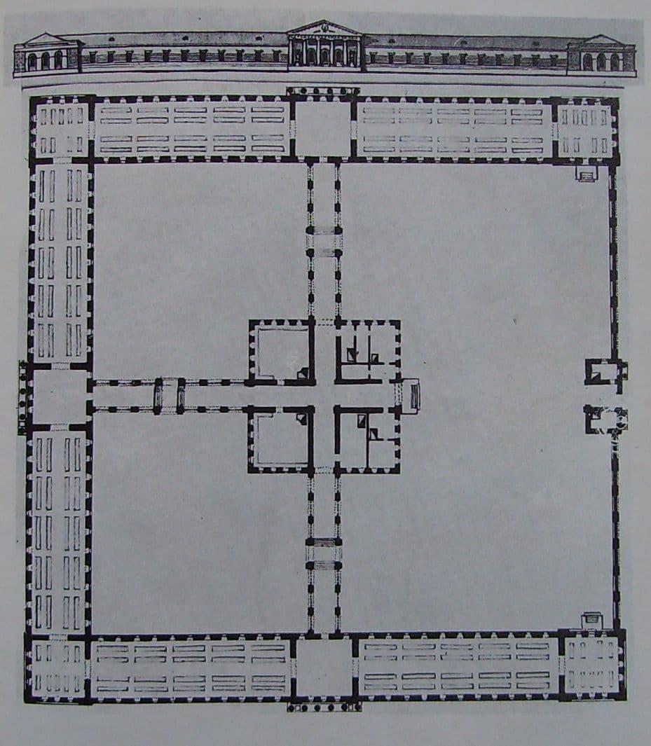 План арсенала. Чертеж С.Е.Дудина. 1813 год.