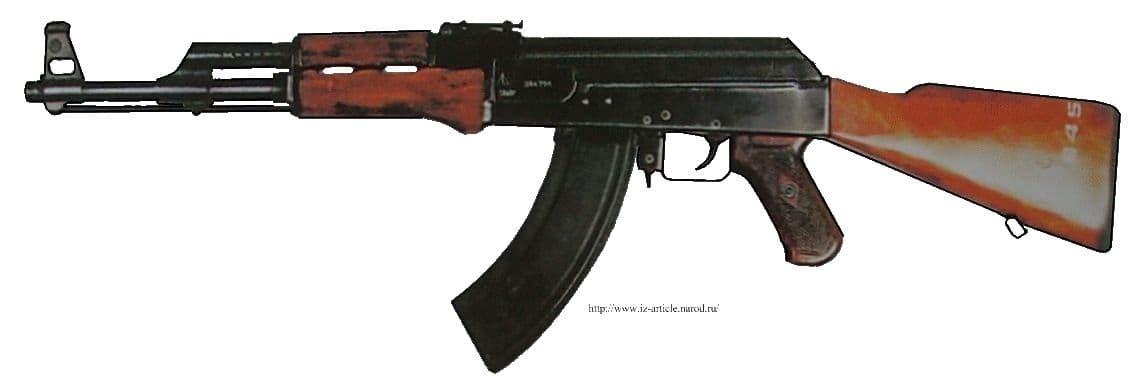АК47, принят на вооружение СА в 1949г. Мотострелковая модель.