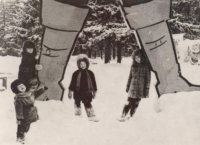 Гулливер в парке Кирова 1980-ые годы. Ижевск.