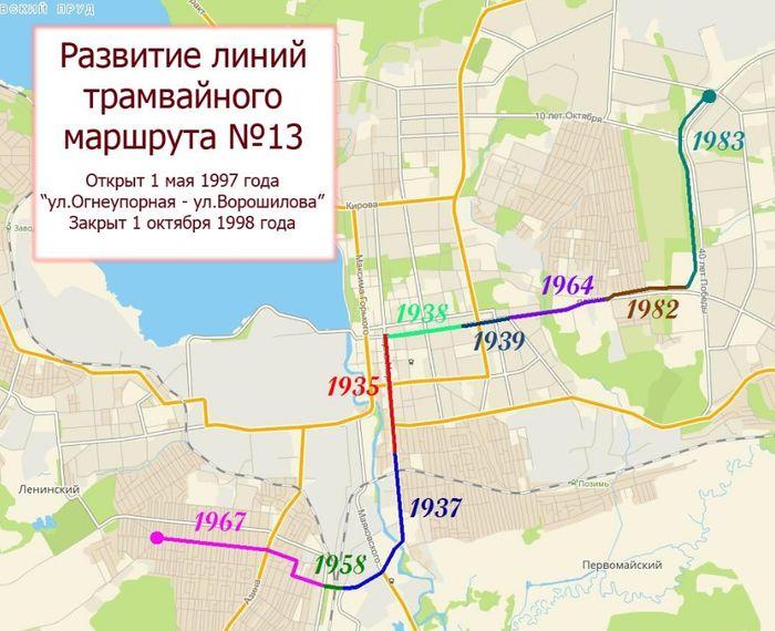 Развитие линий трамвайного маршрута №13. Ижевск.
