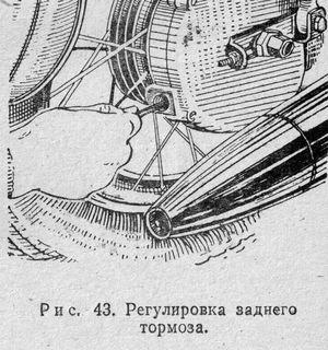 Регулировка заднего тормоза мотоцикла ИЖ.