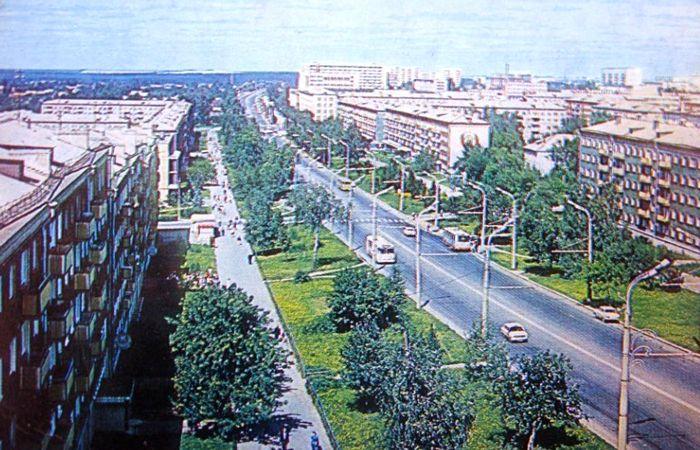 Открытка. Улица Пушкинская. Ижевск.