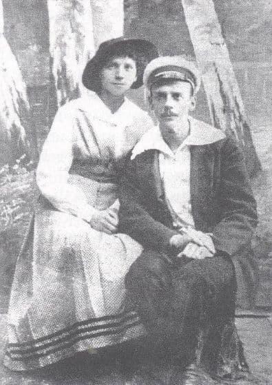 Антонина Пальшина с мужем Григорием Фроловым. Фото 1918 года.