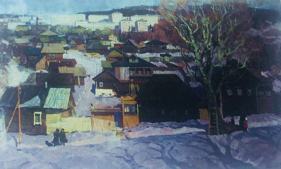 Ложкин А. Е. «Окраины Ижевска», холст, масло, 1967 год.