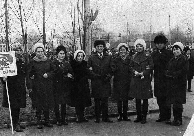 Праздничная демонстрация в Ижевске. 1974 год.