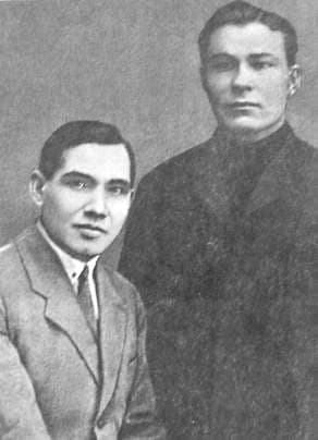 Кузебай Герд с товарищем. Начало 30-х годов.
