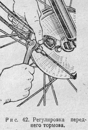 Регулировка переднего тормоза мотоцикла ИЖ.
