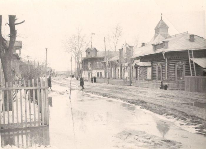 Улица Советская. Здание Народного дома. Вавож. Удмуртия. 1950-1960 годы