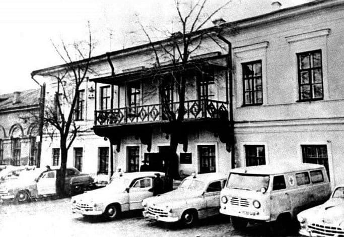 Станция скорой помощи в бывший генеральском доме.