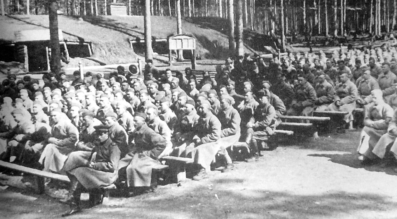 23-й стрелковый полк на 7 км Якшур-Бодьинском тракте. 1941-43 гг.