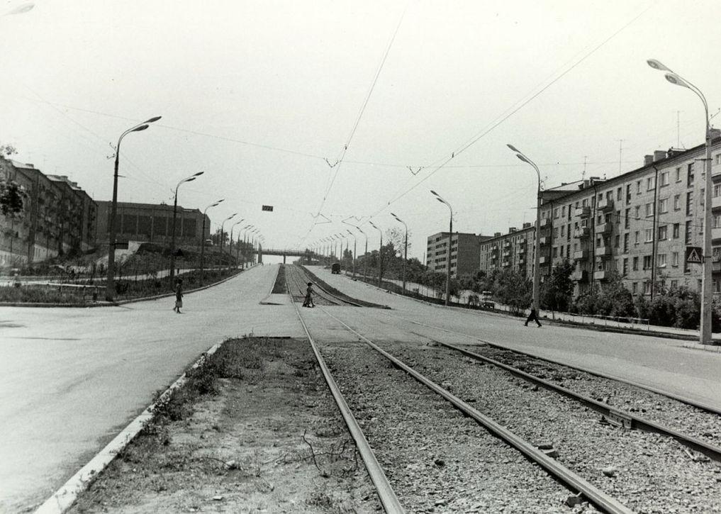 Перекресток улицы Карла Маркса и пер. Широкий в 80-ые годы. Ижевск.